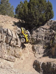 Extreme ATV winching with Reversaroller
